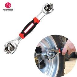 FGHGF uniwersalny narzedzia samochodowe klucz nasadowy 48 w 1 narzędzia klucz Spline śruby Ratchet naprawa narzędzia rowerowe klucze dynamometryczne w Klucze od Narzędzia na