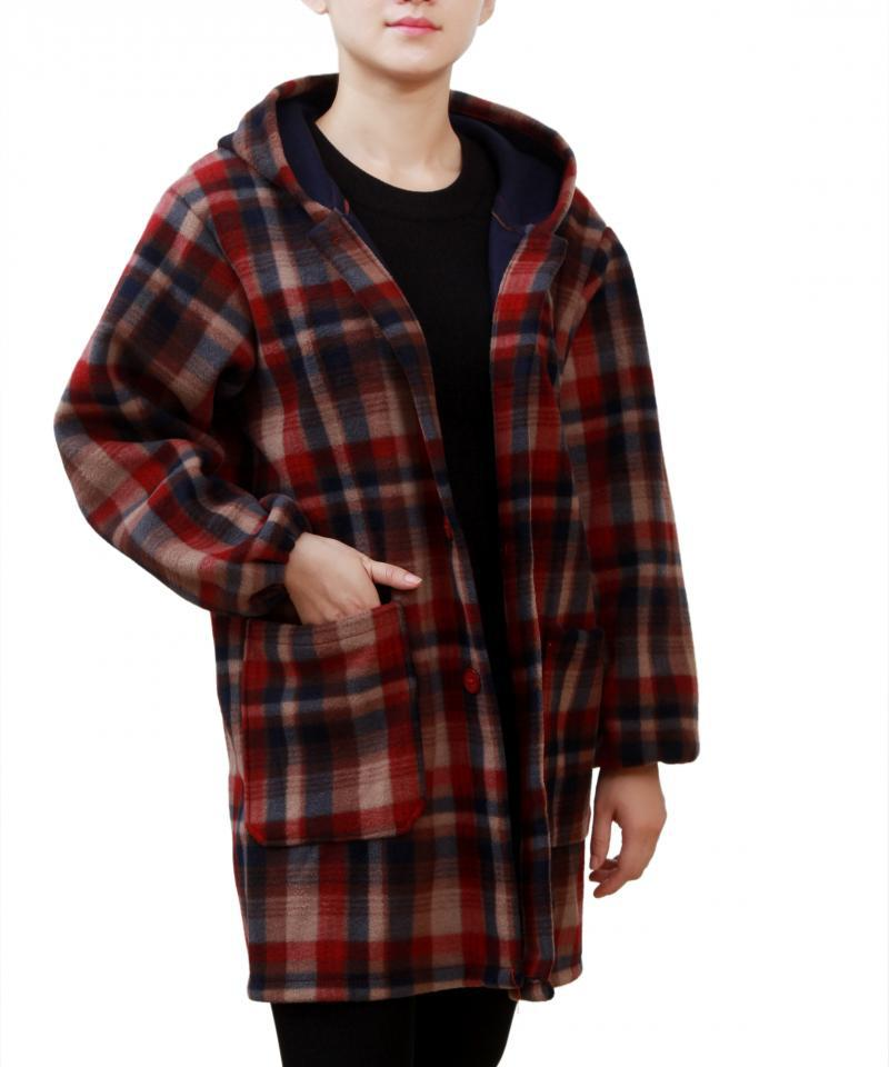 Outer Wear Overclothes Adult Long Sleeve Method Brushed And Thick Down Jacket Coat Apron Work Clothes Blue Men And Women Unlined