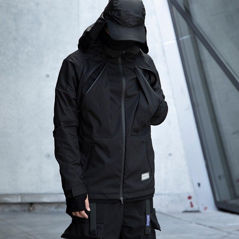 WHYWORKS water-resistant Jacket softshell jacket black techwear style jacket avant garde fashion