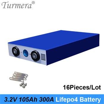 105Ah 3.2V Lifepo4 Battery 300A Current for Electric Bike Battery 36V 48V 12V Solar Panel Use Size 130*36*200mm 16Piece 2020 NEW