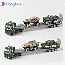 Ze stopu laweta 1: 64 armii samochód z samochodów pojazdów model samochodu z ze stopu metali przewoźnika zabawki prezent kolekcja