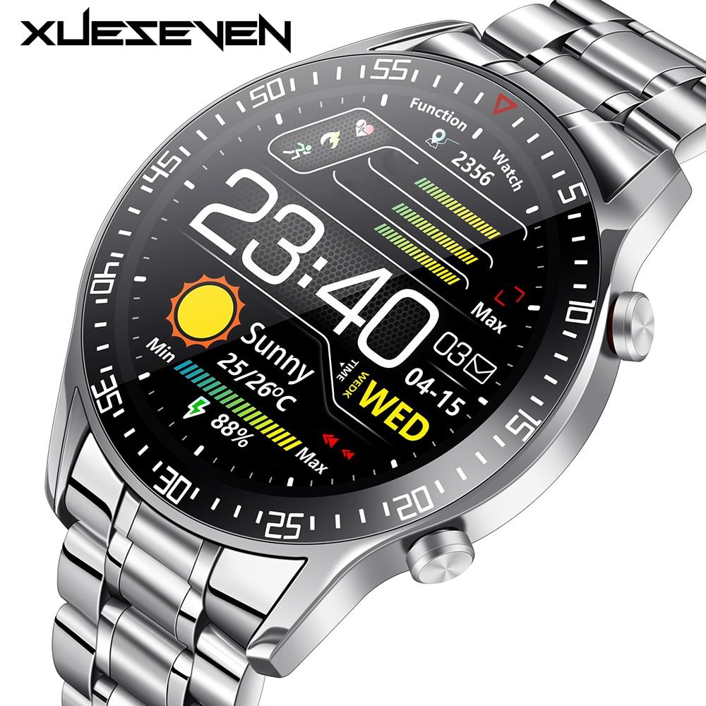 XUESEVEN 2021 HD Full circle touch screen Mens Smart Watches IP68 Waterproof Sports Fitness Watch Fashion Innrech Market.com