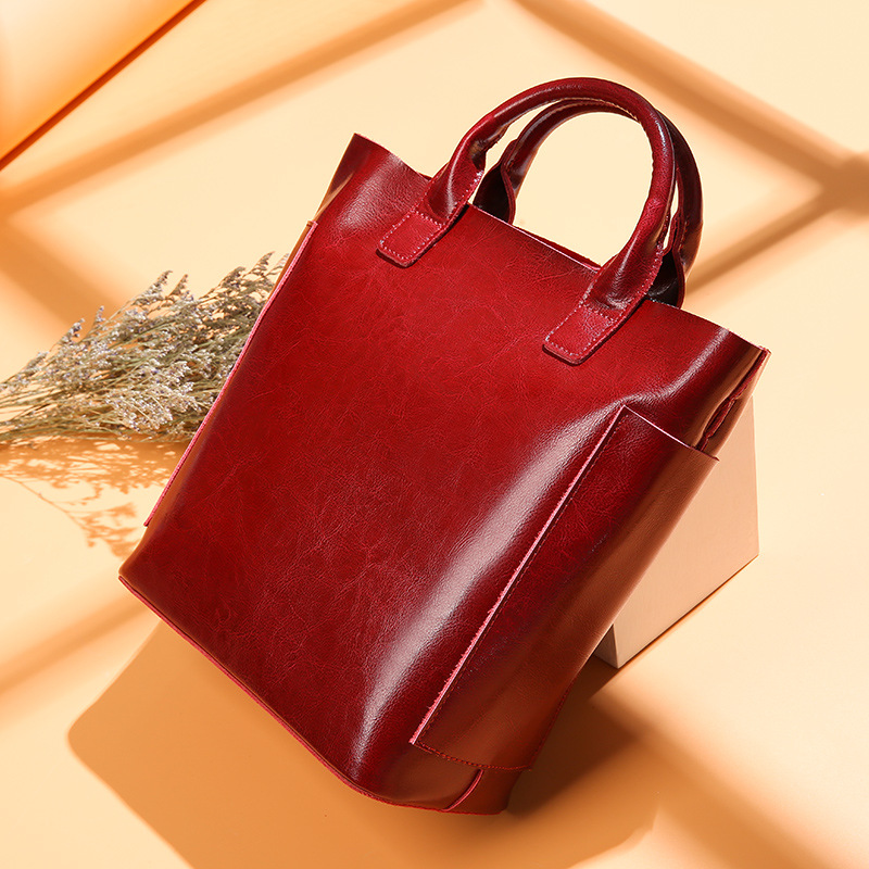 Genuine Leather Bag Large Capacity Handbags Computer Bag Real Leather Laptop Bag High Quality Office Bags For Women Briefcase