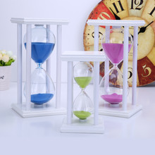 Modern Wooden Hourglass Sand Timer 15/20/30/45/60 Minutes Sandglass Sand Clock Wood for Kitchen School Home Decoration Kids Gift