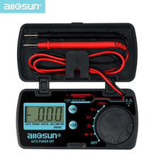 all-sun EM3082 Mini Auto Range Digital Multimeter Tester AC DC Ammeter Voltmeter Ohm Portable Pocket Meter voltage meter(China)