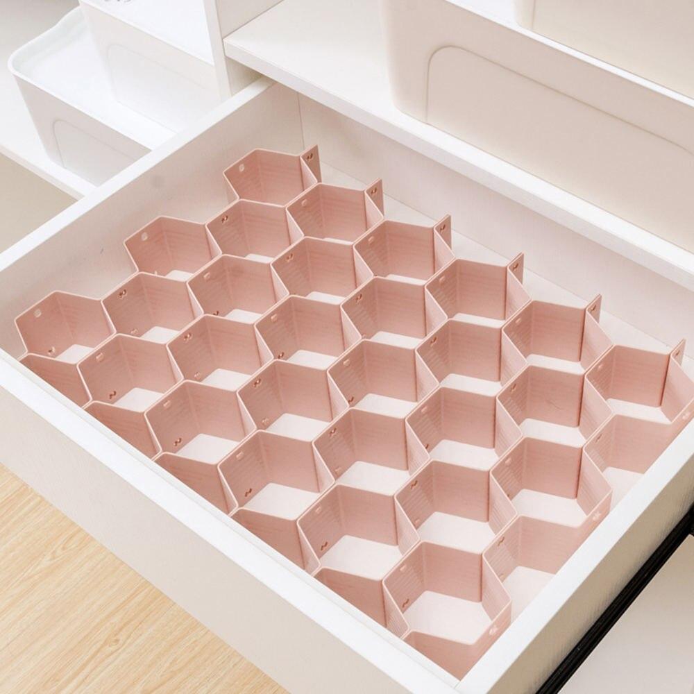 8PCS Honeycomb Nest Drawer Storage Divider Jewelry Sock Tie Underwear Debris Storage Box Makeup Organizer