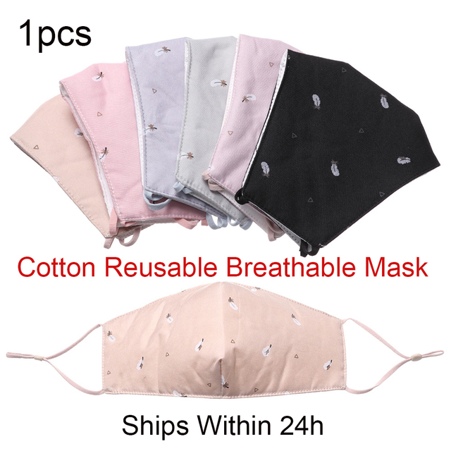 1PC Soft Reusable Mask Men Women Hot Fashion Cotton Fabric Breathable Washable Face Mouth Anti Dust Outdoor Protect 1