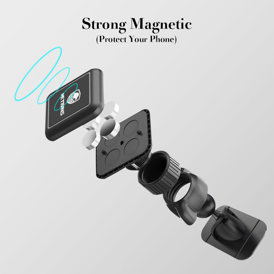 Image 3 - Metrans Magnetic Car Phone Holder For iPhone 360 Degree Rotation Air Vent Holder Car Mount Phone Stand suporte celular paracarro-in Phone Holders & Stands from Cellphones & Telecommunications