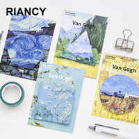 4 teile/los Van Gogh Geometrie Niedlichen Klebrigen Notizen Schreibwaren Kawaii Aufkleber Scrapbooking Papeleria Aufkleber planer Memo pads 01927