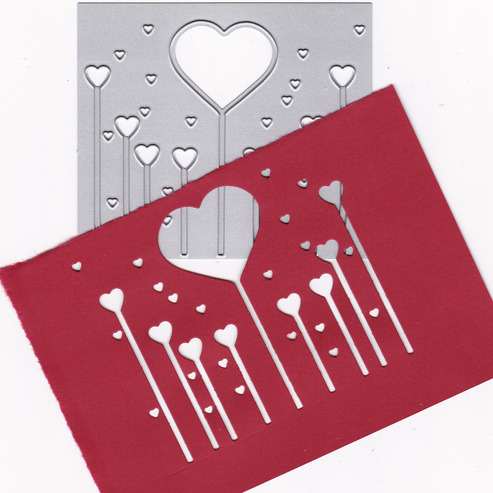 Loves Set Metal Cutting Dies Craft Stencils DIY Scrapbooking Die Cuts Embossing for Photo Album Cards Decorative