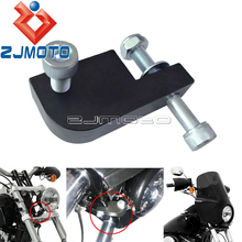 Motorcycle Headlight Extension Block For Harley Dyna FXDL FXDF FXDB FXDWG 39-49mm Fork Headlamp Faring Light Relocation Bracket