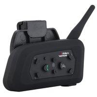 EU Plug V6 Helmet Intercom 6 Riders 1200M Motorcycle Bluetooth Intercom Headset Walkie Talkie Helmet BT Interphone