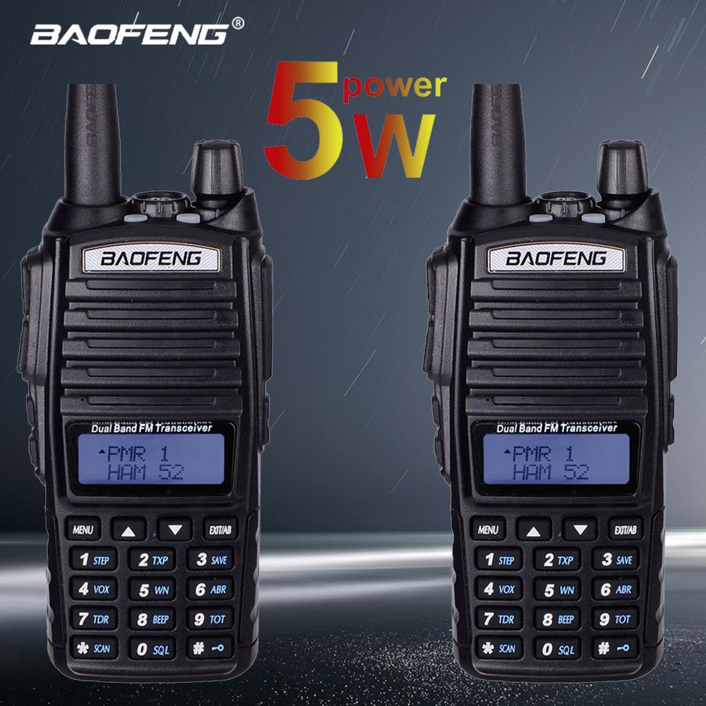 2 pcs BaoFeng UV-82 Walkie Talkie Dual-Band 136-174/<font><b>400</b></font>-520 <font><b>MHz</b></font> FM Ham Two Way Radio Vhf Uhf , Hunting Transceiver Walkie Talkie image