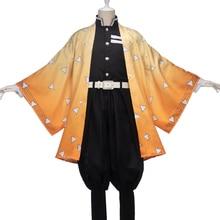 Uwowo Demon Slayer: Kimetsu no Yaiba Agatsuma Zenitsu Cosplay Costume Demon Slaying Corps Uniform Man