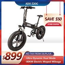 ADO Z20C – vélo électrique pliable avec pneus larges de 20 pouces, moteur sans balais, batterie au Lithium-Ion de 10ah, 350W