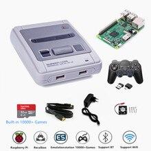 Retroflag ТВ игровых консолей SUPERPi CASE J с Recalbox Системы Raspberry Pi 3B чехол для телефона в виде ретро игровой плеер Bulit в 10000 + игры