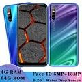 Face ID разблокирован X2 6,26 дюймовый экран капли воды четырехъядерный смартфон 4 Гб ОЗУ 64 Гб ПЗУ 13 МП Android Мобильные телефоны celulares wifi