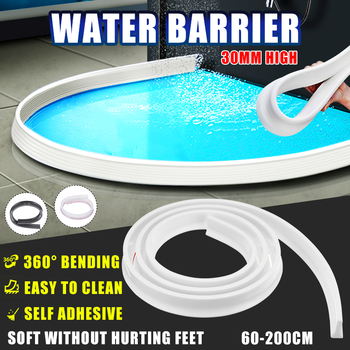 30 mm height Bathroom Water Stopper Water Partition Dry&Wet Separation Flood Barrier Rubber Dam Silicon Water Blocker Don't Slip 1