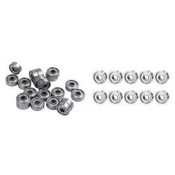 20 sztuk 624ZZ 4mm x 13mm x 5mm ekranowane łożyska kulkowe ze stali węglowej łożyska kulkowe głębokorowkowe i 10 łożyska 604ZZ 4X12 Shiel