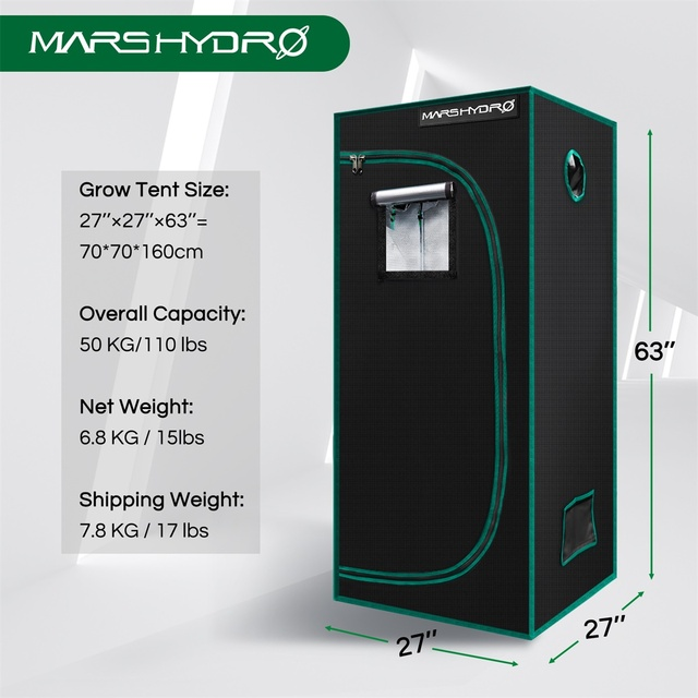 Marshydro 70x70x160cm grow tent 1680D indoor  2