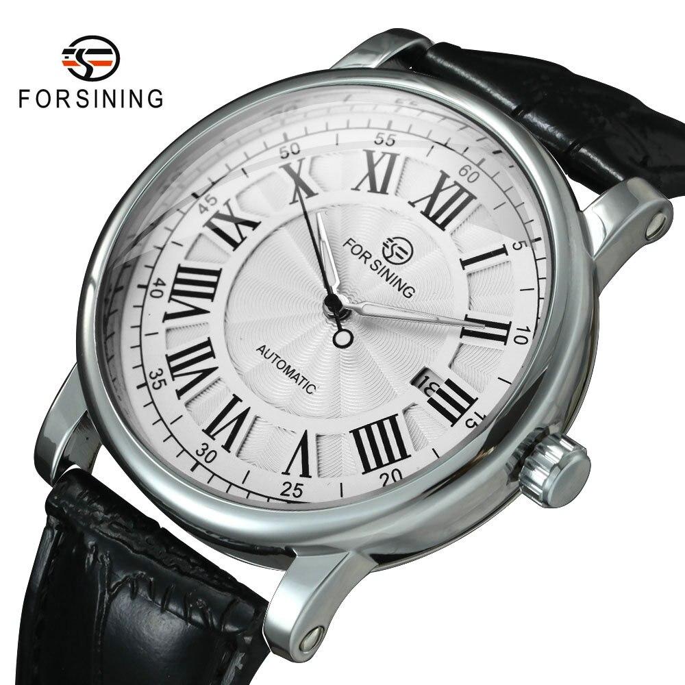 FORSINING montre bracelet mécanique de luxe pour hommes, bracelet rétro mécanique, bracelet lumineux, étanche, avec calendrier, noir | AliExpress