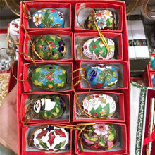 Wholesale 10PCS cloisonne enamel multicolor ball Christmas decoration Chinese style features(China)