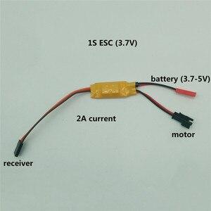 Image 2 - 1S 2S 3S Micro bidirectionnel brossé ESC régulateur de vitesse 3.5 4.8V 2A 5A pour RC Mini réservoir voiture bateau avion 130/280/370 pièces de moteur