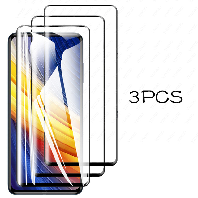 For Poco X3 Pro Screen Protector Glass for Xiaomi Poco X3 Pro Tempered Glass for Poco F3 M3 X3 Nfc Pro X3pro Camera Lens Glass 4
