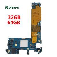 BINYEAE Original Unlocked Main Motherboard 32GB 64GB Replacement For Samsung Galaxy S6 Edge G925F Testing Good