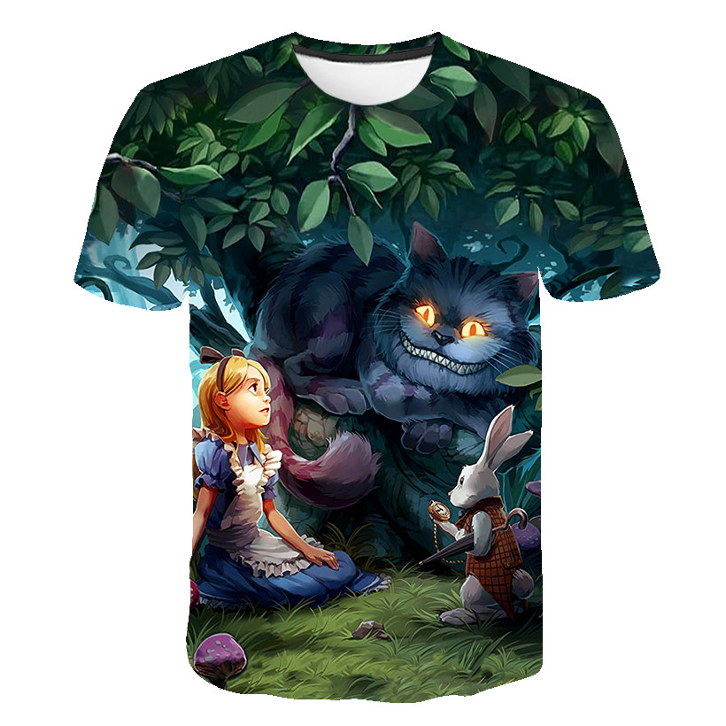 2020 High Quality Newest Cartoon Fairy Tale 3D Print Cartoon Funny T-Shirt Men Short Sleeve Summer Tops Tees Fashion T Shirt 6XL