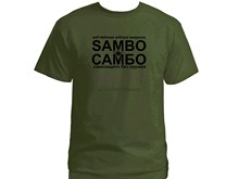Sambo self defence without weapons CAMBO Russian army green t shirt(China)