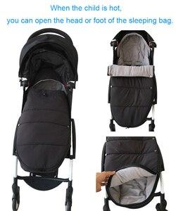 Image 4 - אוניברסלי תינוק עגלת אביזרי חורף גרבי שינה תיק Windproof חם Sleepsack תינוק Pushchair Footmuff עבור Babyzen yoyo