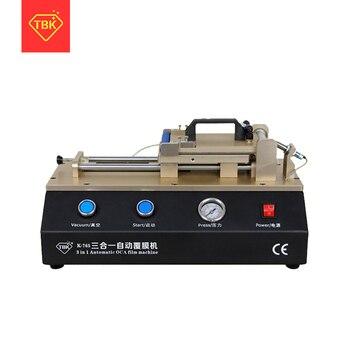 цена на TBK-765  3 in 1 Automatic OCA Film Machine Built-in Vacuum Pump Air Compressor LCD Touch Screen OCA Laminator Laminating Machine
