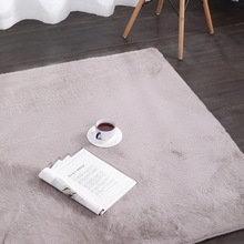 Nordic Style Imitation Rabbit Fur Carpet Modern Simple Bedroom/living Room Rug Balcony Mat Coffee Table Solid Color
