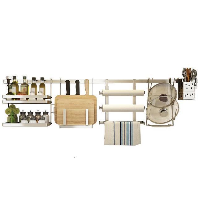 Rangement organisation egouttoir à vaisselle organisador Cocina acier inoxydable Cozinha accessoires de Cuisine Rangement Cuisine support étagères 3