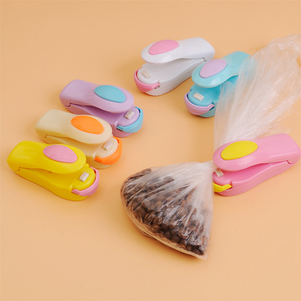 Random Color Portable Mini Sealer Sealing Machine for Plastic Bags Sealing Food Preservation Storage Hand Press Bag Sealer Pack 5
