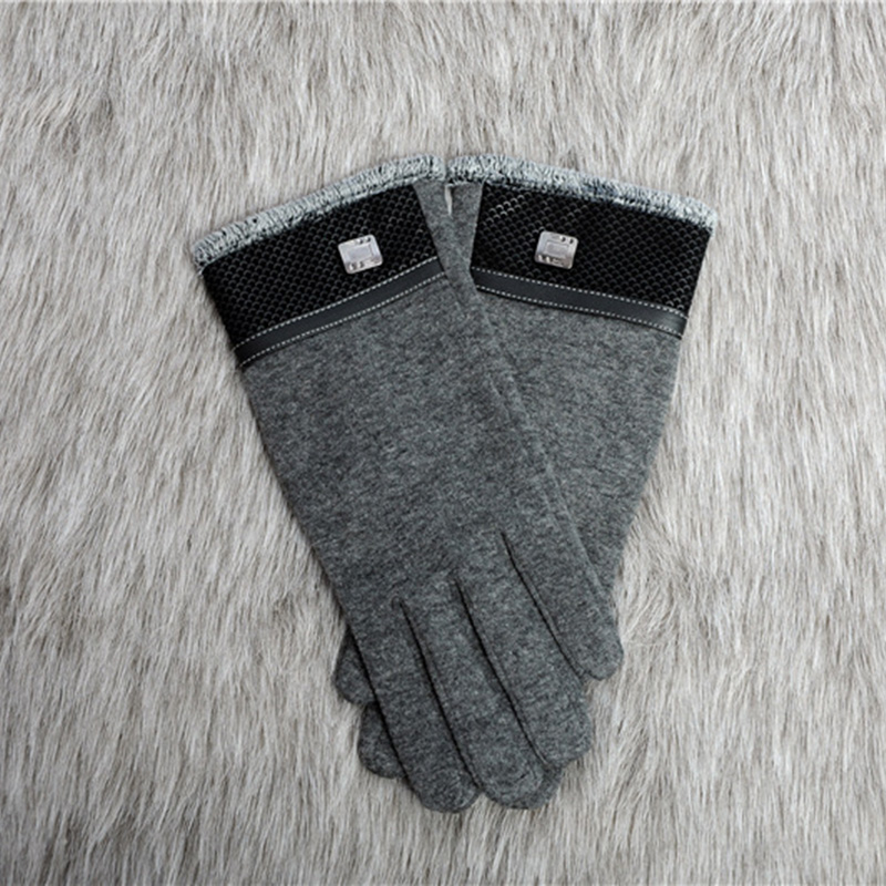 Glove Winter Men's Gloves Touch Screen Mittens Gloves Fashion Men Winter Warm Mittens Soft Cotton Plus Velvet Driving Gloves D32