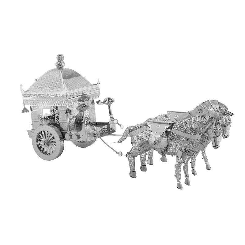 Trasporto legoing antern, scarpe tacco alto, manodopera triciclo FAI DA TE manuale 3D mosaico del metallo stereo modello di montaggio di puzzle creativo giocattolo