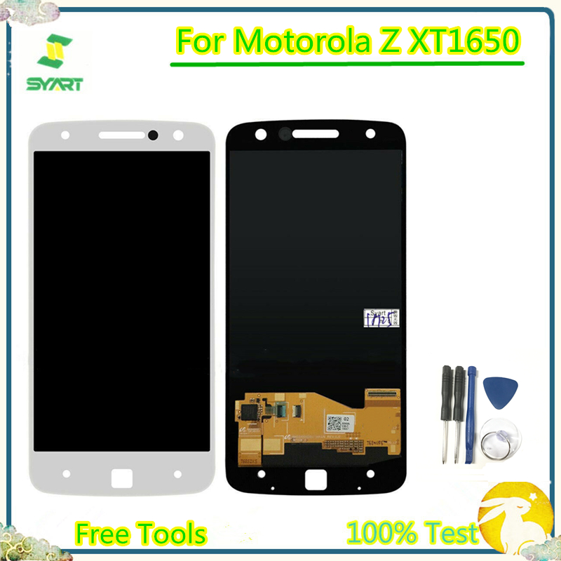 <font><b>LCD</b></font> Screen For Motorola moto Z <font><b>XT1650</b></font>-01 03 05 <font><b>XT1650</b></font> screen <font><b>LCD</b></font> Display Touch Screen Digitizer Assembly For Moto Z <font><b>XT1650</b></font>-01 image