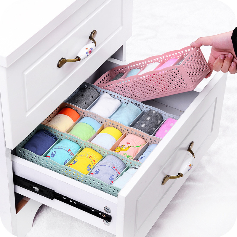 Underwear Container Storage-Box Socks Wardrobe Makeup Plastic Ladies Manager Convenient