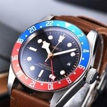 Corgeut Luxury Brand Schwarz Bay GMT Men Automatic Mechanical Watch