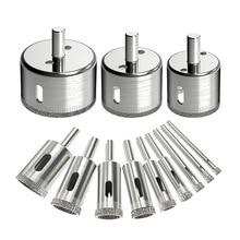 цена на 12Pcs Diamond Drill Bits Glass Tile Hole Saw Bits Set, Hollow Core Drill Bits, Extractor Remover Hole Saws for Glass, Ceramics