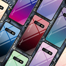 Stained Case for Galaxy J8 J6 J4 Plus Tempered Glass Case for Samsung Galaxy A7 A8 A9 A6 Plus A5 Colorful Gradient Back Cover cheap XCZJ Fitted Case Gradient Stained Glossy Colorful Tempered Glass Case Galaxy S9 Galaxy S8 Plus Galaxy S9 Plus Galaxy Note 7