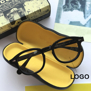 Johnny Depp Vintage Acetate Handmade Glasses Frame Men With Logo Luxury Brand Myopia Optical Eyeglasses Women Eyewear