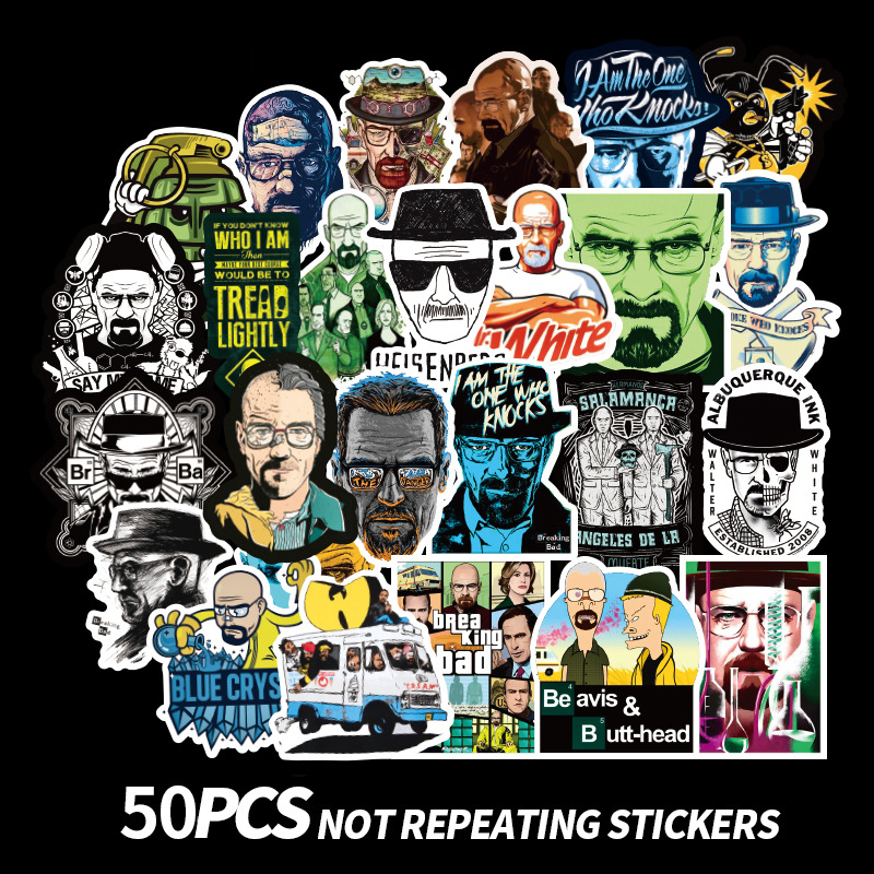 TD ZW 50 Pcs/lot American Classic Breaking Bad Stickers Graffiti Stickers For Laptop Luggage  Car PVC Waterproof Decal Sticker
