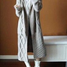 2019 Europe Women Retrieve Winter Hooded Long Knit Trench Jas Korean Women's Fas
