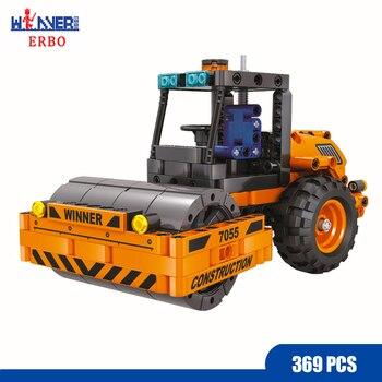 ERBO 369Pcs Technology Roller Car Building Blocks Bricks Car DIY City Car Model Toys for Children Toys Gift