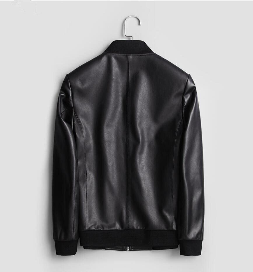 2020 Genuine Leather Jacket Men Real Sheepskin Leather Bomber Jacket Spring Autumn Plus Size Coat MC17C094 MF596