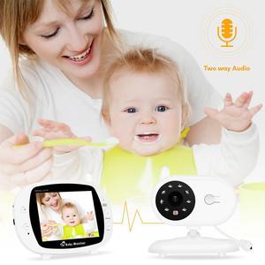 Image 2 - 3.5 Inch Draadloze Babyfoon Met Camera Hoge Resolutie Baby Nanny Bewakingscamera Nachtzicht Temperatuur Monitoring