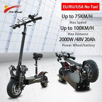 Jueshuai-patinete eléctrico para adultos, Scooter de 2600W con motores duales, patines eléctricos...